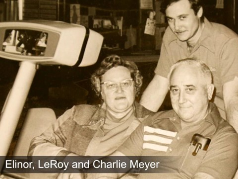 Elinor, LeRoy and Charlie Meyer